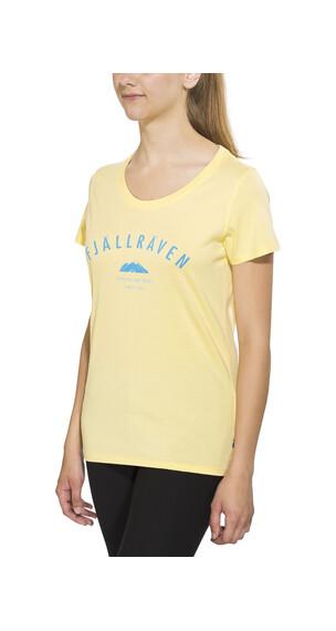 Fjällräven Trekking Equipment T-shirt Women Pale Yellow